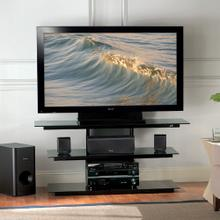 See Details - PVS4218HG High Gloss Black Flat Panel TV A/V System for most Flat Panel TVs up to 50 inches from Bell'O International Corp.