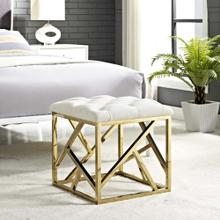 See Details - Intersperse Ottoman in Gold Ivory