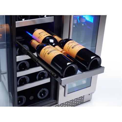 """24"""" French Door Dual Zone Wine & Beverage Cooler"""