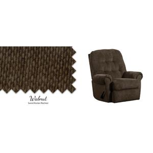 Walnut Swivel Rocker/Recliner
