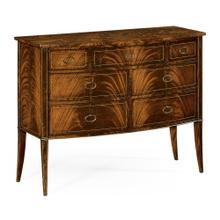Biedermeier bow front chest of drawers (Mahogany)
