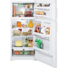 GE® ENERGY STAR® 16.5 Cu. Ft. Top-Freezer Refrigerator (This is a Stock Photo, actual unit (s) appearance may contain cosmetic blemishes. Please call store if you would like actual pictures). This unit carries our 6 month warranty, MANUFACTURER WARRANTY and REBATE NOT VALID with this item. ISI 33807