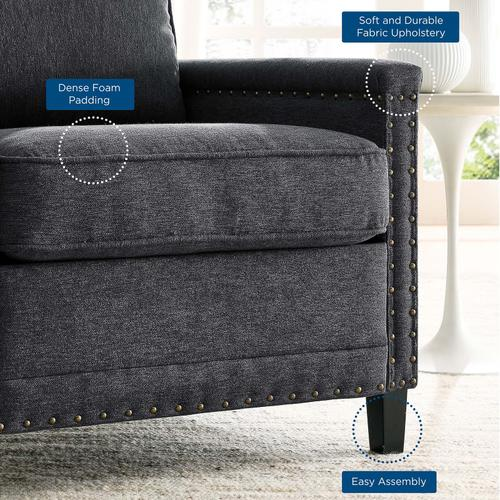 Modway - Ashton Upholstered Fabric Armchair in Charcoal