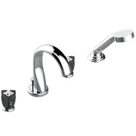"Roman tub set with diverter spout and handshower, 3/4"" valves"