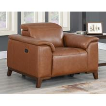 See Details - Bergamo Dual-Power Leather Recliner