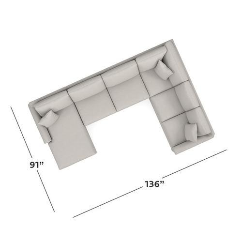 Bassett Furniture - Carolina Panel Arm U-Shaped Sectional