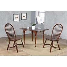 Drop Leaf Dining Set w/Spindleback Chairs - Chestnut (3 Piece)