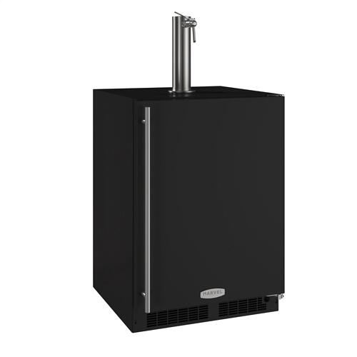 24-In Beverage Dispenser with Door Style - Black, Door Swing - Right