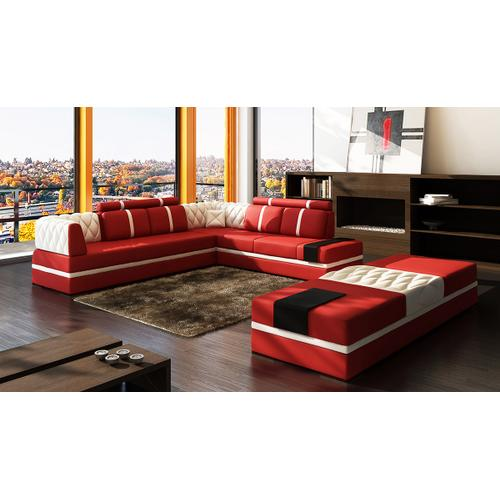Divani Casa 5013 - Modern Bonded Leather Sectional Sofa