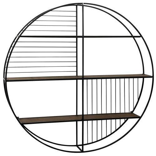 Style Craft - Metal & Wood Wall Shelf  36in X 36in