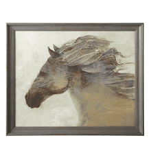 See Details - Framed Horse Wall Art with Glass