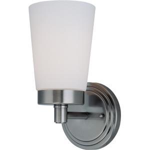 1-lite Wall Lamp, Gun Metal W/frost Glass Shade, Type A 60w