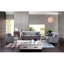 Divani Casa Dumont Transitional Grey Fabric Sofa Set