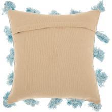"Life Styles Dp005 Blue 18"" X 18"" Throw Pillow"