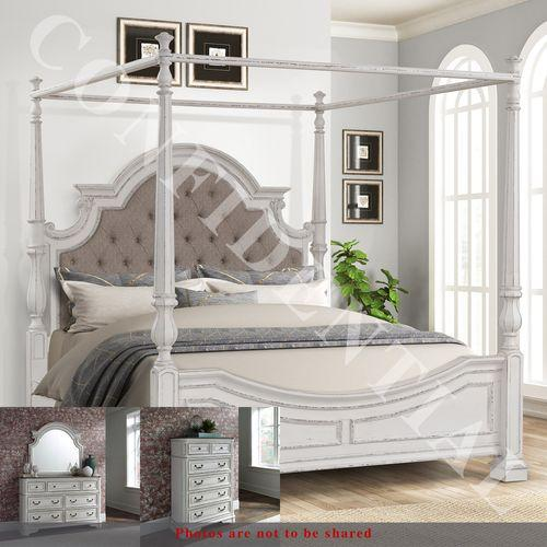 See Details - King Canopy Bed, Dresser & Mirror, Chest