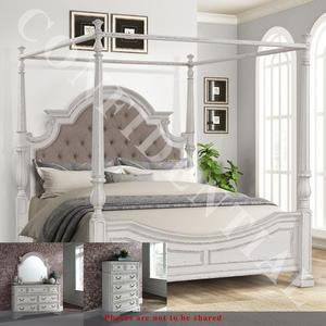 Liberty Furniture Industries - King Canopy Bed, Dresser & Mirror, Chest