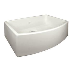 Biscuit Shaws Waterside Single Bowl Fireclay Apron Front Sink