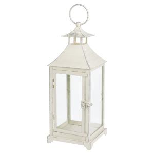 Antique White Metal Lantern