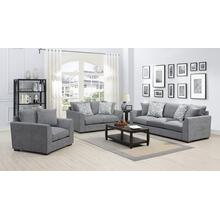 Waverly Gray Sofa, Love, Chair, U6411