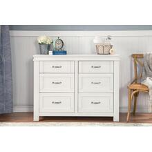 Heirloom White Wesley Farmhouse 6-Drawer Assembled Double Dresser