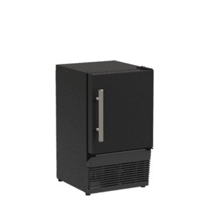 Marvel14-In Low Profile Compact Crescent Ice Machine with Door Style - Black Solid