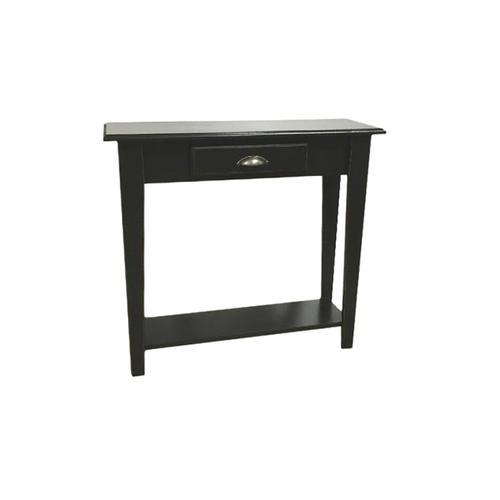 Tall Foyer Table - Vintage Black