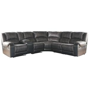 6 Piece Manual Reclining Sectional