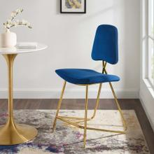 Ponder Performance Velvet Counter Stool in Navy