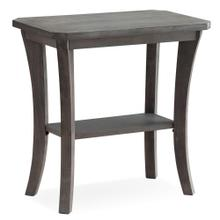 Rustic Wire Brushed Driftwood Narrow Chairside Table - Driftwood Collection #10305-RG