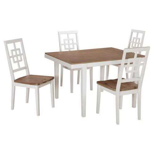 Brovada - White 5 Piece Dining Room Set