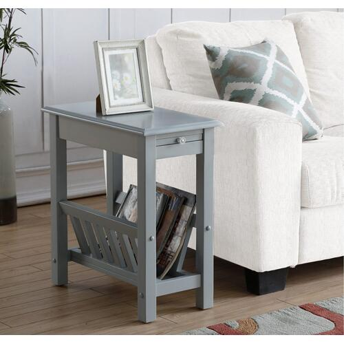 Chairside Table W/ Magazine Rack (rta)