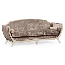 Empire style sofa (Limed Tulip Wood/Velvet Truffle)