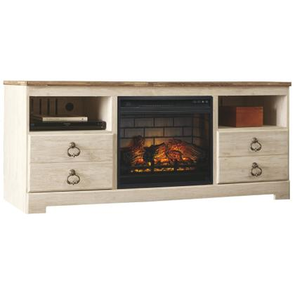 "Willowton 64"" TV Stand With Electric Fireplace"