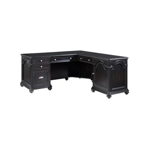 L-desk & Return - Kohl Black Finish
