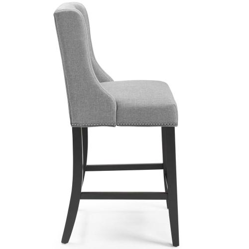 Baron Upholstered Fabric Counter Stool in Light Gray