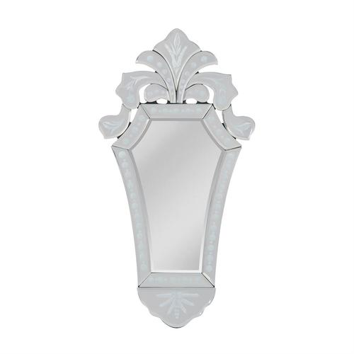 See Details - Medieval Venetian Tapered Etched Glass Mirror