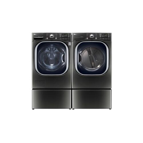 LG - 7.4 cu.ft. Ultra Large Capacity TurboSteam™ Electric Dryer