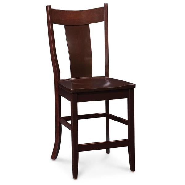 """See Details - Arnold Stationary Barstool, Fabric Cushion Seat / 30"""" Seat Height"""