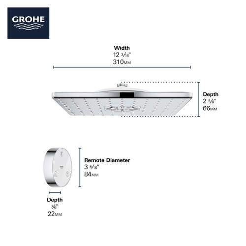 """Product Image - Rainshower 310 Smartconnect Shower Head With Remote, 12"""" - 2 Sprays, 1.75GPM"""
