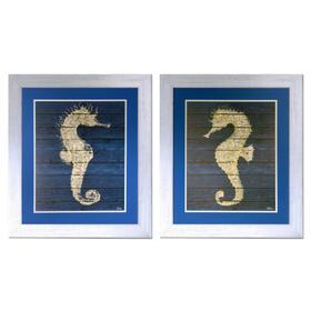 """SEAHORSE ON BLUE 1&2"""