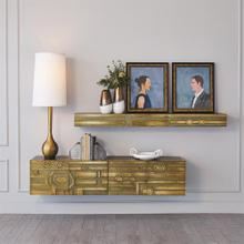 Abstract Block Cabinet-Brass