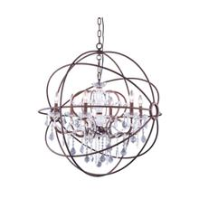 Geneva 6 light Rustic Intent Chandelier Clear Royal Cut crystal