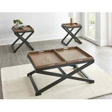 Topeka 3-Piece Set (Cocktail & 2 End Tables)