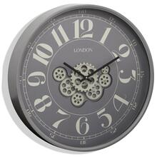 TIME IN MOTION  23in w. X 23in ht. X 3in d.  Industrial Gear Movement Wall Clock