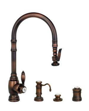 Traditional PLP Pulldown Faucet 4pc. Suite - 5600-4 - Waterstone Luxury Kitchen Faucets Product Image