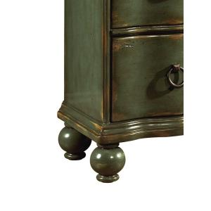 Accentrics Home - Teal Green Distressed 3 Drawer Chest