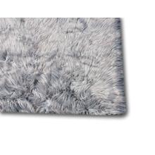 "Modern Fox Faux Fur Luxury Area Rug Appx. 3"" Pile Height by Rug Factory Plus - 5' x 7' / Dip Dye Beige Brown"