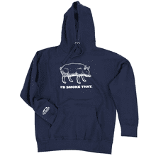 I'd Smoke That Pig Hoodie - Medium
