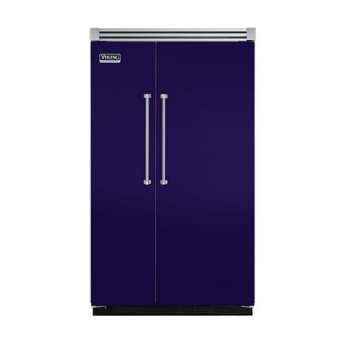 "Viking - Cobalt Blue 48"" Quiet Cool™ Side-by-Side Refrigerator/Freezer - VISB Tru-Flush™ (48"" wide)"