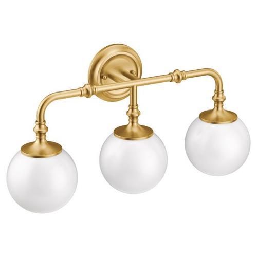 Colinet brushed gold bath light